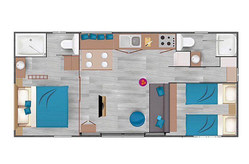 Location mobil home Kani 4 personnes